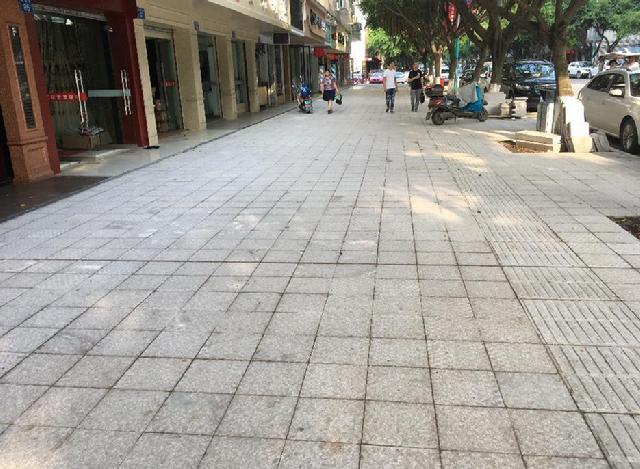 花岗岩,透水砖,瑞安这些地方的人行道提升颜值啦